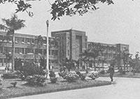 一九六O年代新生大樓教室甫落成時的外觀
