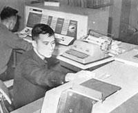台灣大學的首部電子計算機IBM 1620